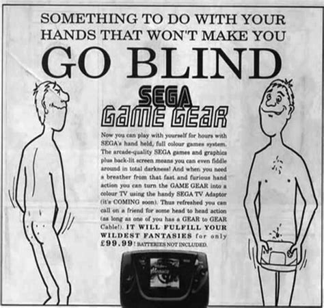 how do you if your going blind print wasn t dead during sega s racy magazine ads but