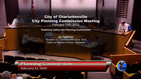 City Of Charlottesville Planning Commission Meeting Jay