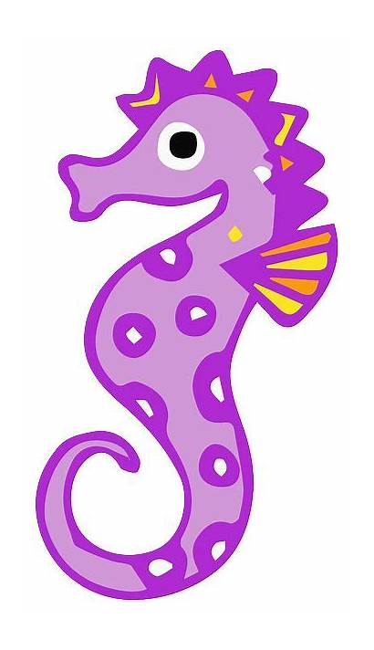 Seahorse Cartoon Transparent Sea Ocean Animal Pixabay