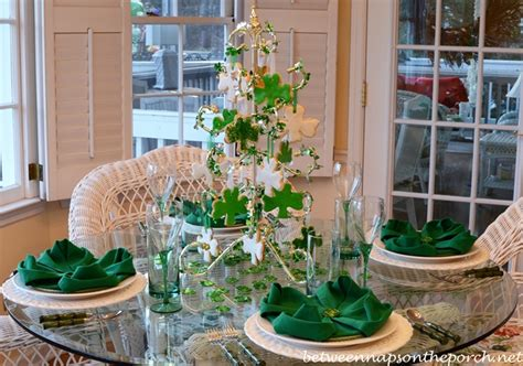 St. Patrick's Day Table Setting Tablescape With Shamrock