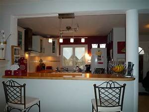 comptoir bar cuisine americaine cuisine en image With cuisine avec bar americain