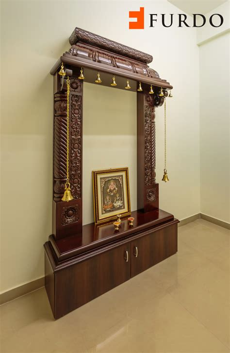 Design For Mandir In Home by Traditional Carved Wooden Puja Mandir Hindu Home Temple