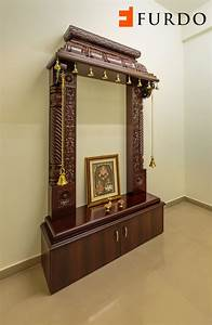 traditional carved wooden puja mandir hindu home temple With pooja mandir for home designs
