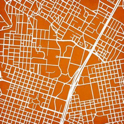 The University of Texas at Austin   City Prints Map Art ...