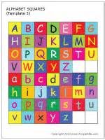 christmas baskets alphabet letter squares printable templates coloring