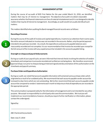 audit management letter annotated guide to reading financial statements