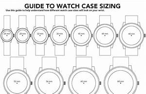 Mens Watch Box  Mens Watches Case Diameter 42mm Size Chart