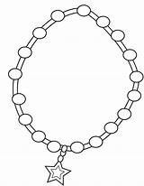Necklace Coloring Pearl Colouring Children Printable Illustration Dreamstime Useful Heart Popular sketch template