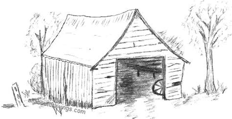 How To Draw A Barn by Characteristic Barn Drawing