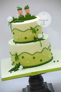Two Peas In A Pod Baby Shower Cake - CakeCentral com