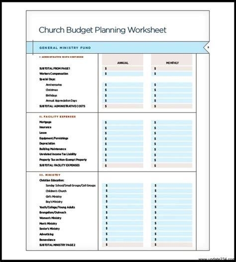 catholic church budget planning template