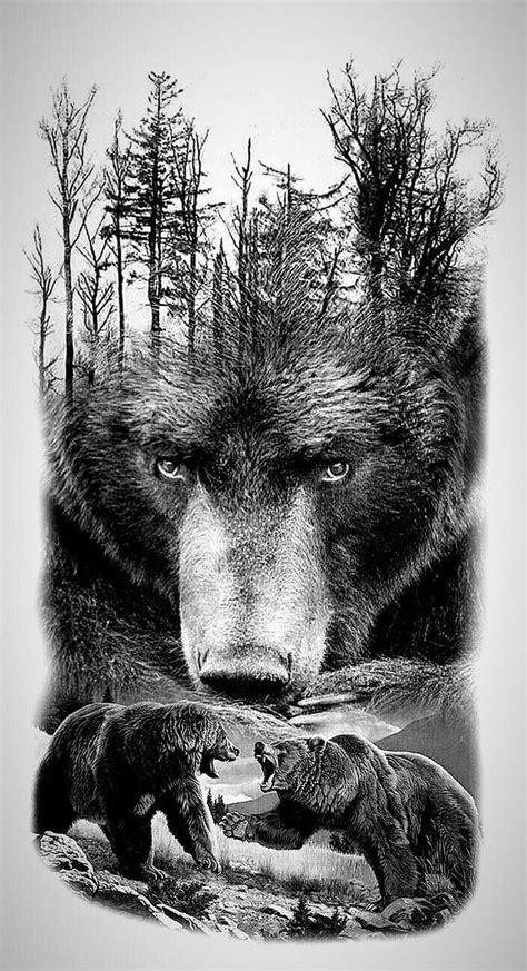 Beautiful Grizzly Bear Art! | Bear | Bear tattoos, Grizzly bear tattoos, Animal tattoos