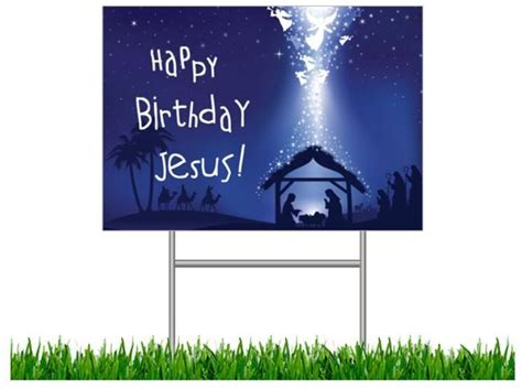 christian yard sign your faith happy birthday