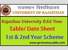 uniraj bed time table 2018 Govt Exams Adda
