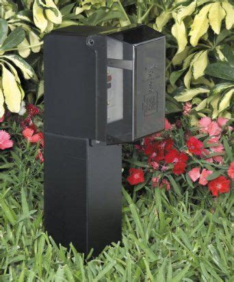 outdoor l post with outlet pinterest the world s catalog of ideas