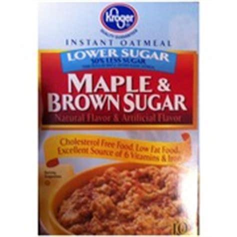 Kroger Bloomfield Maple by Kroger Oatmeal Instant Lower Sugar Maple Brown Sugar
