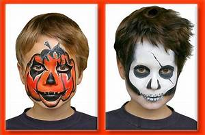 Maquillage Halloween Garçon : maquillage t te de mort halloween ~ Melissatoandfro.com Idées de Décoration