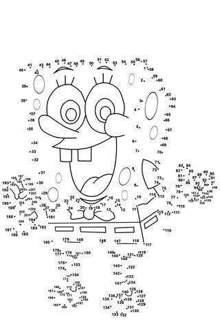 spongebob dot  dot  printable coloring pages
