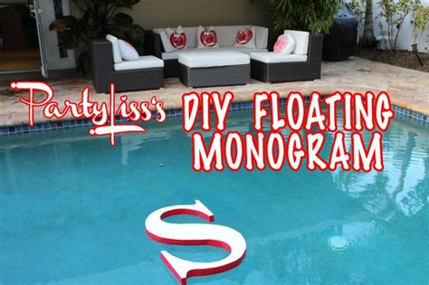 float pool cover letter floating monogram paint to glow in or cover with