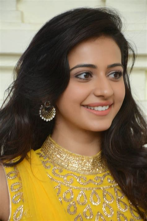 Rakul Preet Singh Cute Yellow Salwar Kameez Latest Photos