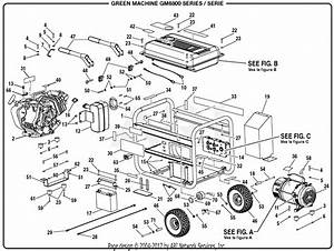 Homelite Gm6800 Series 6 800 Watt Generator Parts Diagram