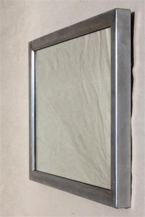mid century modern vintage industrial washroom mirror