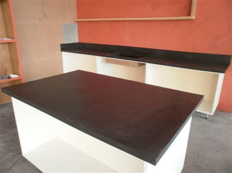beton ciré cuisine plan travail kit de béton ciré haute résistance nuances minérales