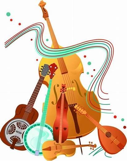 Bluegrass Clip Band Clipart Instruments Musical Jam