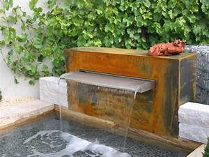 Brunnen Im Garten : wasserfallbrunnen mekong f r den garten teich oder pool geeignet die edelstahlspeier fertigen ~ Sanjose-hotels-ca.com Haus und Dekorationen