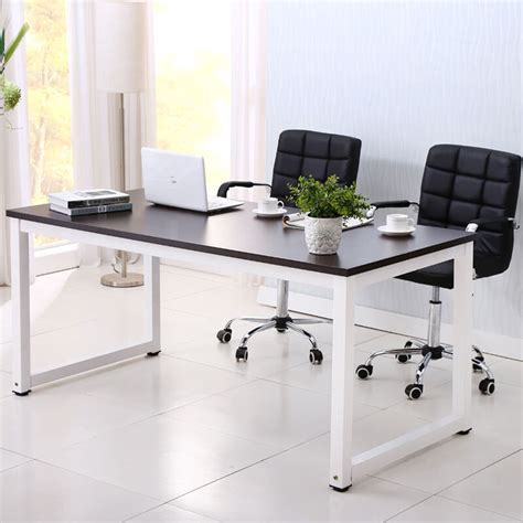 black home office desk computer desk pc laptop table wood workstation study home