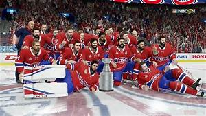 NHL 18 - Montreal Canadiens Stanley Cup Celebration - YouTube