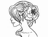 Coloring Hair Hairstyle Pages Salon Flower Hairstyles Dibuix Haircut Pintar Flor Per Printable Adults Flowers Adult Getcolorings Colorear Imprimir sketch template