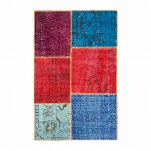burling tapis en laine 90x140 multicolore habitat With tapis laine multicolore