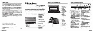 Foodsaver V3800 Series User Manual