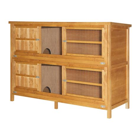 6ft rabbit hutches home roost 6ft 2 tier wooden rabbit hutch keep pets