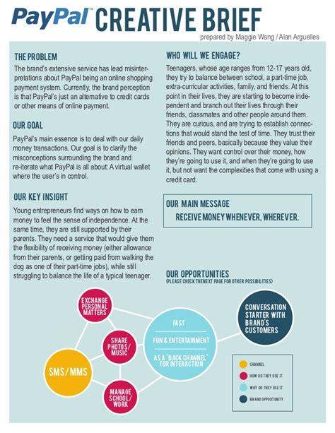 creative brief template paypal creative brief