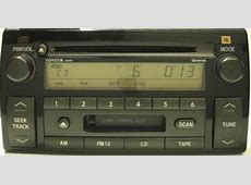 Camry 20022004 CD Cassette JBL Radio AD6807 *REMAN*