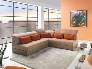 Canapé D Angle Modulable : canap d 39 angle modulable cuir et tissu mod le edy ~ Melissatoandfro.com Idées de Décoration