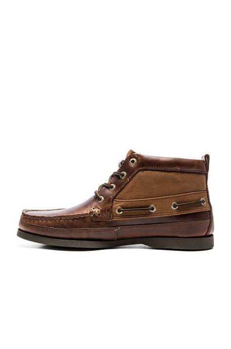Sperry Duck Boats by Sperry Top Sider A O Boat Chukka Duck Cloth In Brown For