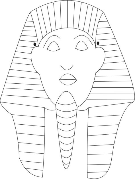 Ancient Mask Template by Ancient Mask Coloring Pages