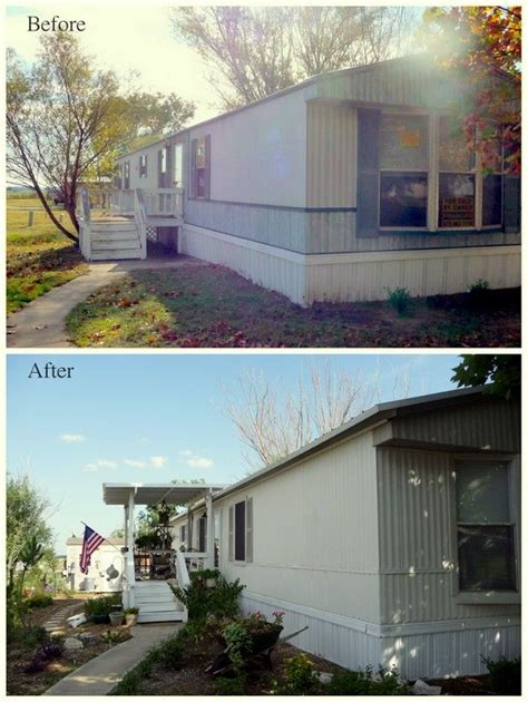 my s song mobile home exterior before after paint