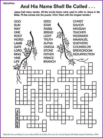 the many names for jesus puzzle korner biblewise bible jesus and his bible