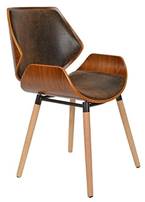 fauteuil de bureau cuir marron ts ideen 1 x chaise de bureau bois de chêne foncé faux