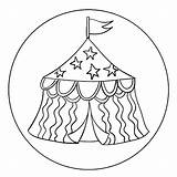 Circus Tent Coloring Printable Activity Template Cookie Round Getdrawings Getcolorings Kits Toppers Popular sketch template
