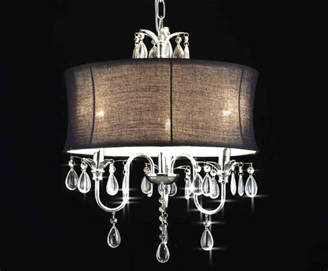 gallery 3 light chandelier with large black shade