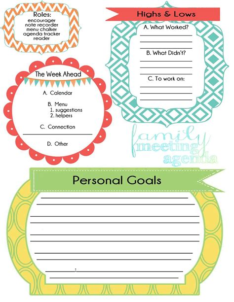 20 best family meeting ideas worksheets images in effective family meeting worksheets. Life Made Creations: family meeting : free printable