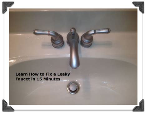 How To Stop A Bathroom Sink Faucet From by Fix A Leaky Moen Bathroom Faucet In Less Than 15 Minutes
