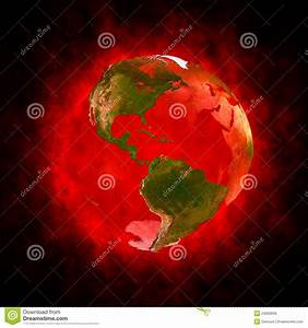 Red Aura Of Earth - America Royalty Free Stock Photos ...
