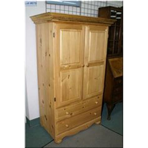Knotty Pine Armoire A Knotty Pine Door Armoire With Two Drawers And Two