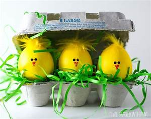 Chick Easter Eggs - It All Started With Paint